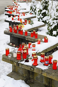Memorial place of the 1st anniversary of the massacre of Winnenden and Wendlingen, Winnenden, Baden-Wuerttemberg, Germany, Europe