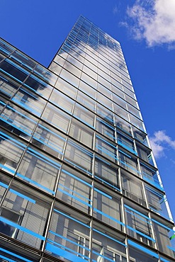 Reflective glass facade of the IBM branch office in Hamburg, Berliner Tor Centrum BTC, Hamburg, Germany, Europe