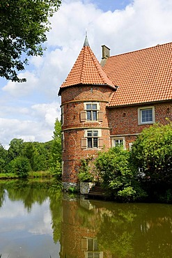 Haus Voegeding moated castle, Muenster, North Rhine-Westphalia, Germany, Europe