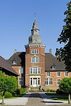 Schloss Sandort castle, Olfen, North Rhine-Westfalia, Germany, Europe