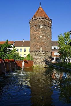 Siebenteufelsturm tower from 1502, Haltern am See, North Rhine-Westfalia, Germany, Europe