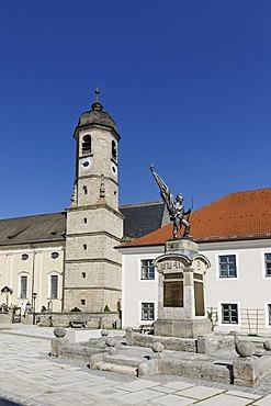 Church of the Kloser Weyarn monastery, Weyarn, Upper Bavaria, Germany, Europe