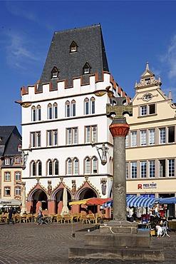 Ratskeller, Hauptmarkt, main square, Trier, Rhineland-Palatinate, Germany, Europe