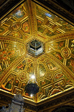 Cupola ceiling, Chapel of Grace, Kevelaer, North Rhine-Westfalia, Germany, Europe