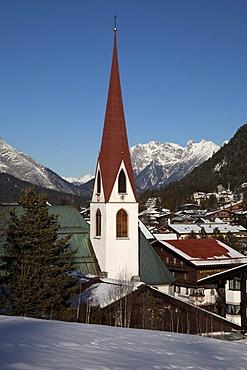 St. Oswald Parish Church, Seefeld, Tyrol, Austria, Europe