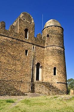 Historic Fasiladas Palace, Royal Enclosure Fasil Ghebbi, UNESCO World Heritage Site, Gonder, Gondar, Amhara, Ethiopia, Africa