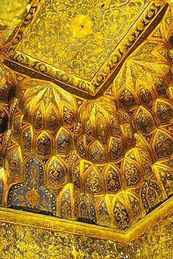 Gold plated cupola in the Mausoleum of Sheik Safi ad-Din, Ardabil, Iran, Persia, Asia