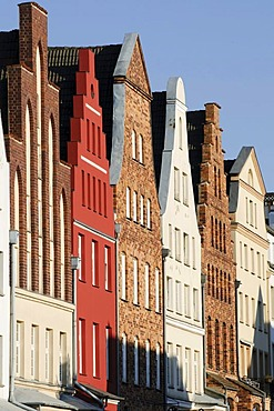 Gables of the old town, Rostock, Mecklenburg-Western Pomerania, Germany, Europe