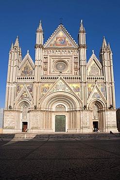 Duomo Santa Maria Assunta, cathedral, Orvieto, Umbria, Italy, Europe, PublicGround