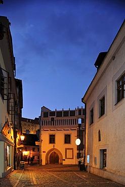 Historische Altstadt am Abend, UNESCO-Welterb, Cesky Krumlov oder Boehmisch Krumau, Tschechien, Europa