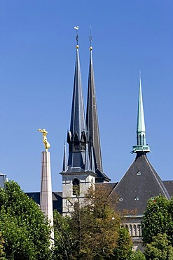 Gelle Fra and Notre Dame Cathedral, Luxembourg, Europe