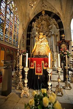 Inner shot of the Notre Dame Cathedral, Onze-Lieve-Vrouwekathedraal, Cathedrale Notre-Dame, Unesco World Heritage, Antwerp, Flanders, Belgium, Europe