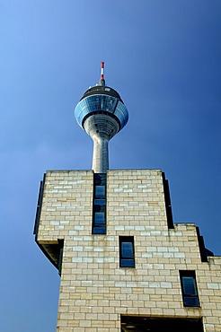 Radio tower, Parliament of North Rhine Westphalia, Duesseldorf, North Rhine-Westphalia, Germany, Europe