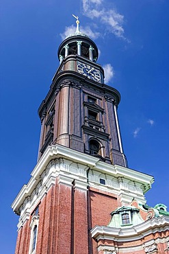 St. Michaelis church, popular nickname Michel, Hamburg, Germany, Europe
