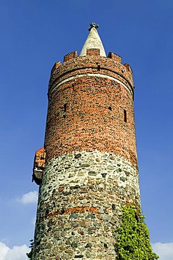 Defence tower of the old city walls, Jueterbog, Flaeming, Brandenburg, Germany, Europe