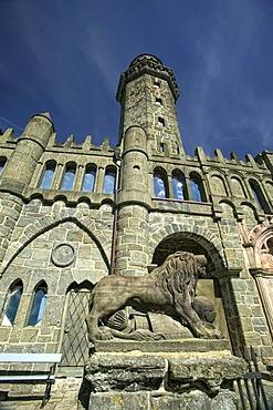 """Loewenburg, """"Lions Castle"""", Wilhelmshoehe Park, Kassel, Hesse, Germany, Europe"""