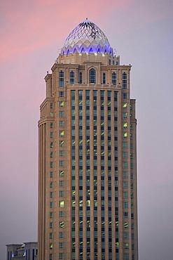 Four Seasons Hotel, dusk, Doha, Emirate of Qatar, Middle East, Asia