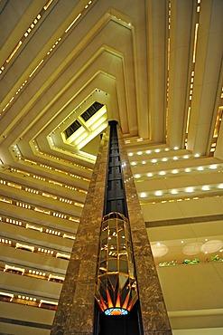 Interior, elevator, Hotel Doha Sheraton, Doha, Qatar, Persian Gulf, Middle East, Asia