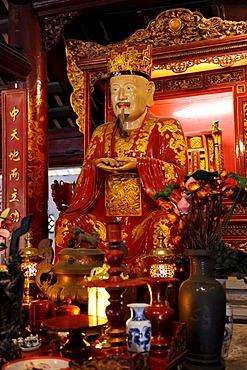 Statue of Confucius, Temple of Literature, Van Mieu, Hanoi, North Vietnam, Vietnam, Southeast Asia, Asia