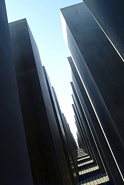 Holocaust Memorial designed by architect Peter Eisenman, memorial to the murdered jews of Europe, Tiergarten district, Mitte district, Berlin, Germany, Europe