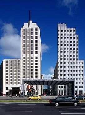 Beisheim Center and Ritz Carlton Hotel, subway entrance, Potsdamer Platz square, Tiergarten district, Berlin, Germany, Europe