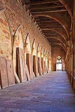 Convent cloister, Wissembourg, Vosges du Nord nature park, Vosges mountains, Alsace, France, Europe