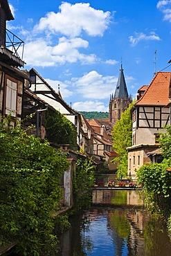 La Petite Venise, Little Venice, Wissembourg, Vosges du Nord nature park, Vosges mountains, Alsace, France, Europe