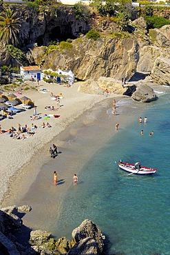 Playa de Calahonda, Calahonda Beach, Nerja, La Axarquia, Costa del Sol, Malaga province, Andalusia, Spain, Europe