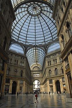 Galleria Umberto I, Umberto 1 Gallery in Naples, Italy, Europe