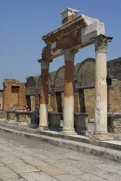 Forum, the square in Pompeii, Italy, Europe