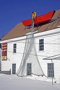 Restaurant, clam bar, Wellfleet, Cape Cod, winter, Massachusetts, New England, USA
