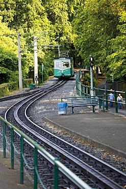 Drachenfels Railway, rack railway, Koenigswinter, Drachenfels, Dragon's Rock, Siebengebirge Mountains, North Rhine-Westphalia, Germany, Europe
