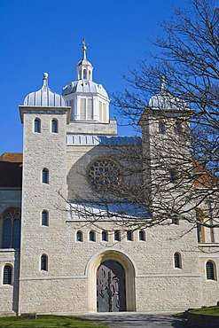 Portsmouth Cathedral, from Oyster Street, Portsmouth, Hampshire, England, United Kingdom, Europe