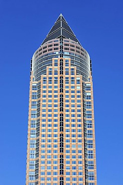 Messeturm, Fair Tower, 257 metres high, Westend quarter, Frankfurt am Main, Hesse, Germany, Europe