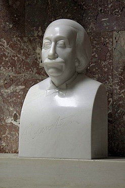 Bust of Albert Einstein, Walhalla temple, Donaustauf, Bavaria, Germany, Europe