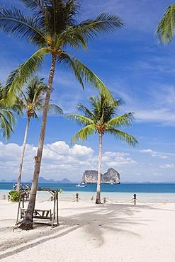 Palm beach, Ko Hai or Koh Ngai island, Trang, Thailand, Asia