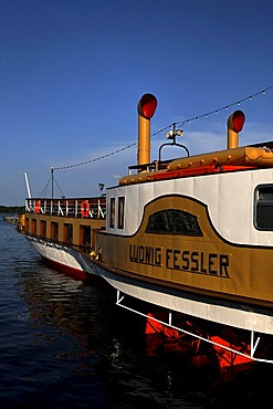 Passenger-ferry Ludwig Fessler on Lake Chiemsee, Upper Bavaria, Germany, Europe