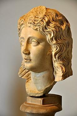 Ancient marble bust of a muse, Museo Palatino, Palatino, Rome, Lazio, Italy, Europe