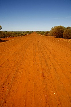 Dirt road in the Australian Outback, Australia