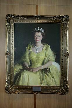 Painting of Queen Elizabeth II in the Australian Parliament, Canberra, Australian Capital Territory, Australia