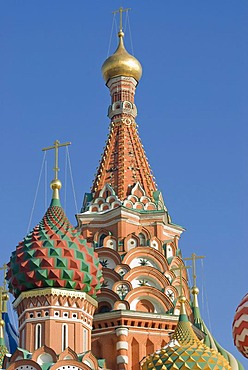 Domes of Saint-Basil's Cathedral, Moscow, Russia