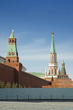 Kremlin wall and towers, Moscow, Russia