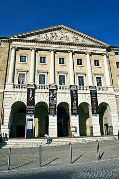 Teatro delle Muse theatre, 1827, neoclassical, architect Pietro Ghinelli, Ancona, Marche, Italy, Europe