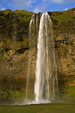 Seljalandsfoss waterfalls in southern Iceland, Iceland, Europe