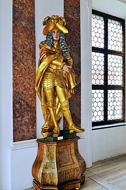 Schwaben 1720-30, Elector Max Emmanuel of Bavaria, Benedictine Abbey in Ottobeuren, Bavaria, Germany, Europe