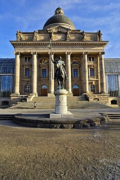 Equestrian statue of Otto von Wittelsbach Duke of Bavaria in front of the State Chancellery, Munich, Bavaria, Germany, Europe