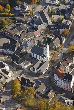 Aerial shot, Voerde, Ennepetal, Bergisches Land, North Rhine-Westphalia, Germany, Europe