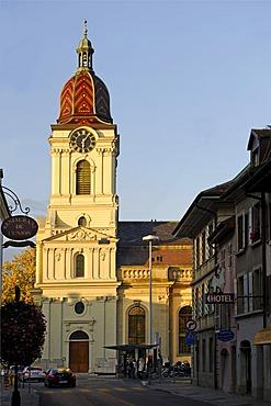 Temple, protestant parish church, Morges, Canton of Vaud, Switzerland, Europe