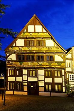 Adam-und-Eva-Haus, Hathumarstrasse, Paderborn, North Rhine-Westphalia, Germany, Europe