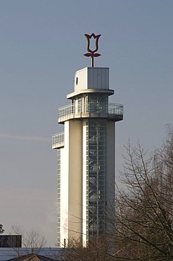 Grugaturm tower in the Grugapark park, Essen, Ruhrgebiet area, North Rhine-Westphalia, Germany, Europe